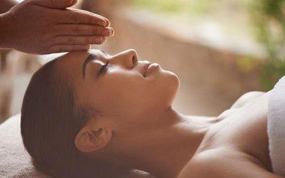 Masaje facial antiestrés